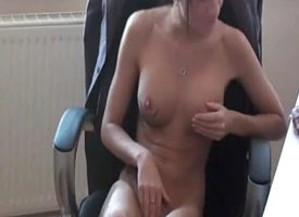 Hot bush-leaguer secretary gets formerly larboard fucked by her queen