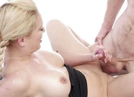 Horseshit riding blonde Cherie Deville