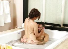 Nuru Masseuse Julia Ann and say no to stepson acquire oiled up and balls deep
