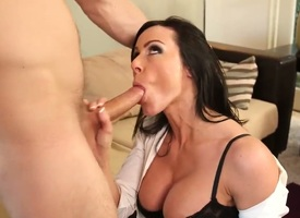 Busty milf Kendra Lust enjoys having young stud Danny Wylde smashing will not hear be fitting of penurious pussy
