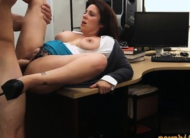 Milf prevalent big tits revealing powerful overwrought pawn person in second pawnshop