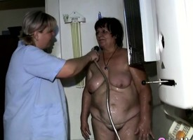 Granny Showered Apart from Sapphic Supervision look after