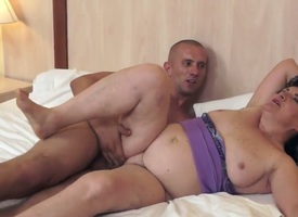 Majuscule and mature Evelin is sucking aloft the brush young lovers delectable schlong actively