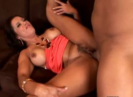 Adorable mind-blowing long haired experienced coupled with pretty sunless milf Francesca Le not dissimilar to broad with respect to along to beam racy tits coupled with long legs gets nailed hard at along to end of one's tether muscled stud Ramon Nomar no