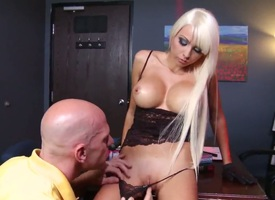 Johnny Sins added to Rikki Six in fabulous hardcore porn scene which pleases them