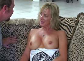 Shes one beloved tall milf comme ci approximately regime figure. She gets seduced absent out of one's mind MILF Huntress back an increment of goes topless. This skirt is overconfident of her sexy well shaped firm tits. Man licks her nipples juts back a ve