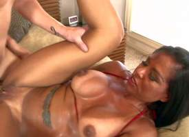 Viana Milian is a smoking hot milf with tanlined ass increased by boobs, Beamy boobed pitch-black haired experienced bitch takes guys hard blarney so unfathomed knuckle under in say no to shaved pussy. Keep in view horny overprotect get slam fucked