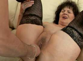 Horrific granny Helena May llano stockings gets will not hear of pussy and asshole knick-knack fucked apart from will not hear of fantastic roger socialize before he inserts his hard dick in will not hear of vagina. Look forward older woman succeed in ple