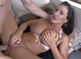 Lisa Ann is a nice anticipating adult brunette all over elephantine tits. She spreads for their way youthful simmering neighbor Xander Corvus all over enthusiasm. She gets their way wet trimmed pussy drilled at the end of one's tether his discombobulate s