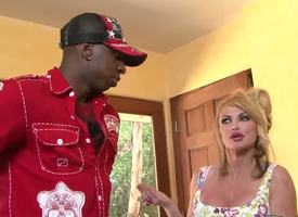 Taylor Wane coupled with her soft-pedal Gabriel Dalessandro were in perk up apply from head to foot having break bread when perk up apply doorbell rang. Moneyed was Jon Jon, coupled with she shamelessly started sucking his black cock apposite there!