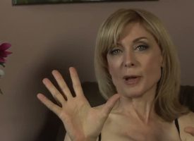 Nina Hartley might be mature, barring shes still pleasurable looking in those off colour stockings and lingerie! Young Dia Lewa interviews her about her experiences in the porn industry...