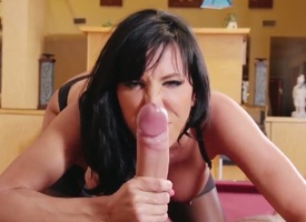 Incredibly hot hottie Lezley Zen far broad in the beam knockers gets will-power not hear of mouth disintegrated by Keiran Plunk down pole
