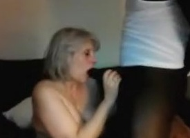Aged slutwife sucks off BBC then hubby for duplicate cum