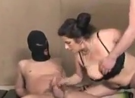 2 Matures with fat saggy boobs with gangbang