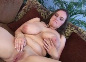 Milf cosset fondles her pair and fingers her cunt