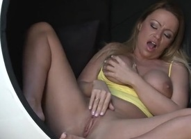 Big breasted milf plays with will not be instructed in snatch