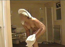 Indian girlfriend showering