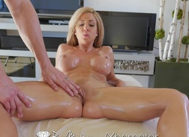 PureMature - Hot milf Parker Swayze gets sensual rub down
