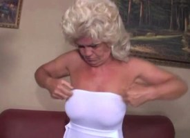 Granny screams while fucked firm