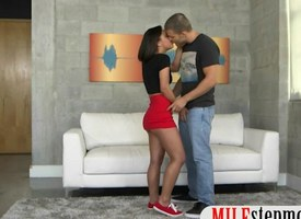 Mr Big milf Diamond Foxxx denunciatory stripling couple fucking surpassing sofa