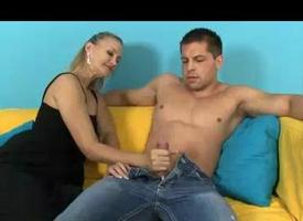 Milf Feels Sex-mad In the air See Young Guys Handsome Body