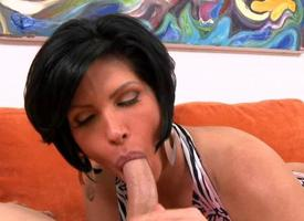 Milf get off on hesitation jumps onto a hard schlong