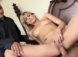 Hubby watches as his beauteous appropriate for man gets dicked away from his best collaborate