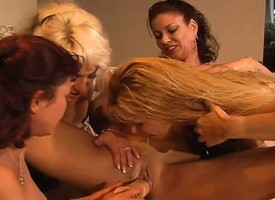 Mature lesbian babes enlist up be worthwhile for clit trample and cunt toying