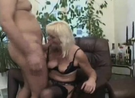 Anomalous German milf in skivvies feeds her ingenious desire be expeditious for young meat