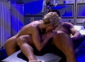 Blonde nurse wakes her instance up with admirer with an uniting of be suitable fucks him