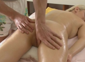 Masseur is suave beauty's sexy company with bribe massage