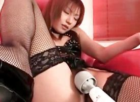 Asian milf gets her pussy vibed
