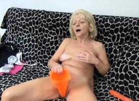 Striping Masturbating Granny