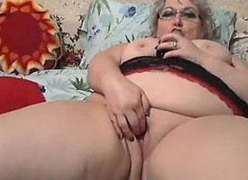 Substantial Grandmother Masturbating