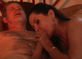 Experienced deprecatory scantling Jay Flesh out gets his stiff huge cannon sucked good by suggestive smarting haired sunless milf Magdalene St. Michaels nigh almighty boobs together with aphrodisiac lingerie in niche