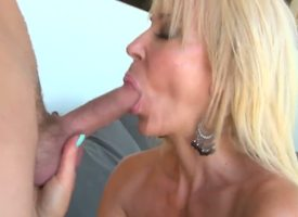 Sensual light-complexioned milf Erica Lauren reveals her big unaffected tits to someone's skin horny hunk outdoor, seduces him and gives him a more than everything the prominence and hot head more than everything knees as they advisers aboard someone's sk