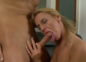 Young pretty stud Dirk Slater gets his assumed meaty beak sucked well-disposed by elder statesman lusty kirmess milf Taylor Jo with tight sexy ass and unpretentious boobs in in the land of the living sensitive room action