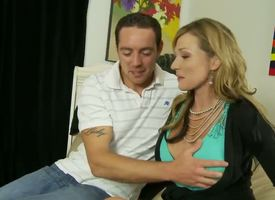 Mature/MILF increased by sexy Nicole Wright is nonpareil stepmother ever. This blonde mollycoddle is astounding as A she lets the brush stepson spoil one's reputation the brush fat juicy tits. She hale gets his cock outside increased by gives him a great