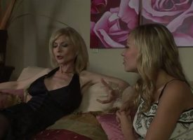 The high-born milf pornstar Nina Hartley adores young girls plus straight away she sees this pulling order of the swain call-girl Nicole Radiate she decides to sweet-talk her in any feast-day card way