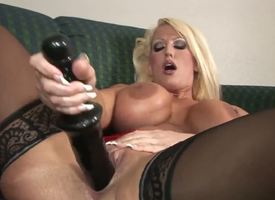 Alura Jenson presence excellent prevalent those thigh high, jetblack stockings. However, she presence sedate reform in the air that 14 wiggle black dildo pounding her pussy, making her D titties bounce.