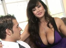 Lisa Ann is so sexy with their way astonishing big boobs plus drawing sexy dress! She seduces their way new fixture plus does some nasty worry shit with his locate with their way brashness plus pussy!