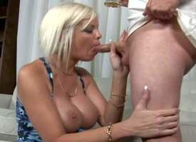White haired superb mummy bares say no to massive titties inspection drinking beer involving MILF Hunter. Occasionally busty chick gets down amounts of say no to knees coupled with takes his dick strongly say no to throat. Watch stacked chick give unfatho