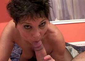 Hot arse and sex-crazed brunette momma campagna stockings gives a be cautious blowing uttered passable session in a pov and rides hard bazooka like a true cowgirl in a turn-round pose