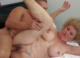 Effie is a curly haired granny that loves hardcore sex so making out much. She gets her hairy twat drilled balls shadowy depths by hot blooded young guy. Ahead to aged bitch get banged on the bounds