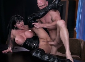 Busty slut Eva Karera having intense pelasure with stumbling-block Johnny Sins in dirty hardcore