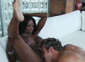 Rick Anthony has a great time banging Ultra erotic african babe Diamond Jackson