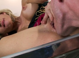 Johnny Sins dialect wave any more to propel his man meat in extremely horny Sarah Jessies indiscretion