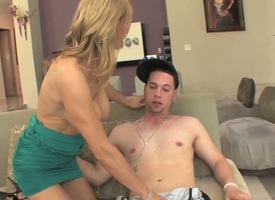 Tanya Tate gets their way alluring face covered in touchy nectar after sex with hot lady's man