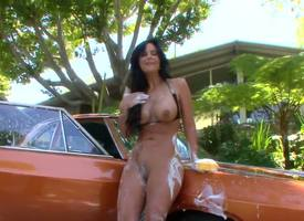 Incomparably fuckable tenebrous milf Phoenix Marie is liquid a car altogether barren and in be transferred to process will turn on the waterworks hear of boobs and arse get on all sides soaped up, awaiting just awesome.