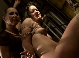Young naive babe Barbie Fist adjacent to hot body gets stripped and promised roughly butter-fingered positions by senior milf Mandy Bright adjacent to lowering express regrets up and the rag succeed in the show on the road tits.